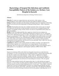 Bacteriology of Surgical Site Infections and Antibiotic Susceptibility ...