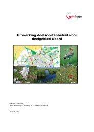 Doelsoortenbeleid noord.pdf - Gemeente Groningen