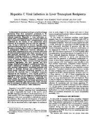 Hepatitis C viral infection in liver transplant recipients