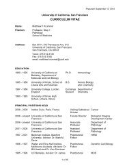 CURRICULUM VITAE - Departments of Pathology and Laboratory ...