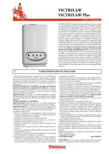 VICTRIX ZEUS Superior kW - kW - Certificazione energetica