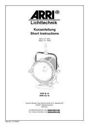 Kurzanleitung Short Instructions - ARRI Lighting Rental