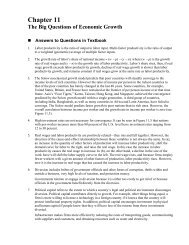 Chapter 11 The Big Questions of Economic Growth - Faculty-Web