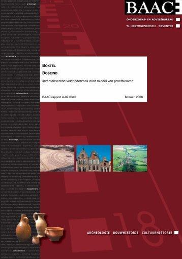 Inventariserend veldonderzoek door middel van proefsleuven