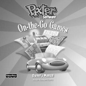 73976 : Pixter™ Software On-the-Go Games - Mattel