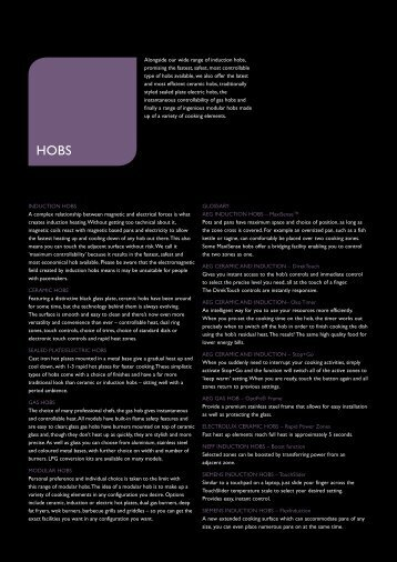 glossary aeg induction hobs u maxisense glamour kitchens