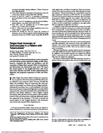 Pelger-Huet Anomaly of with - Chest