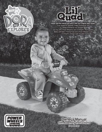 J7825 : Dora Lil' Quad - Mattel