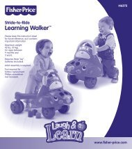 H6372 : Laugh & Learn™ Stride-to-Ride Learning Car - Mattel