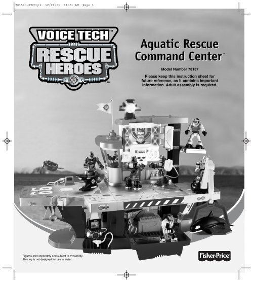 Replacement Part Pieces for Rescue Heroes Aquatic Command Center boat base 78157