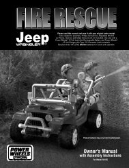B0155 : Fire Rescue Jeep - Mattel