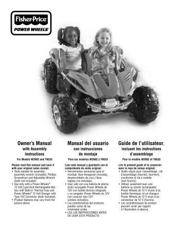assembly montaje assemblage - Mattel