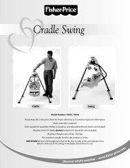 79595 : Cradle Swing - Mattel
