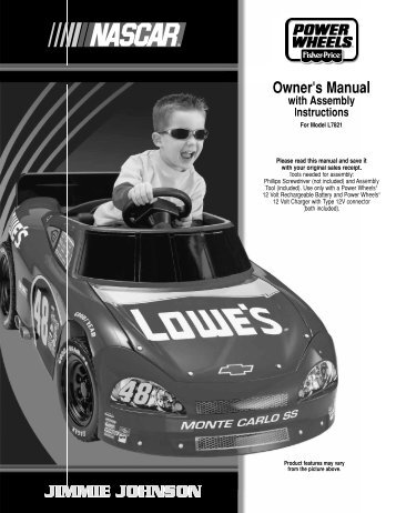 L7821 : Power Wheels Nascar - Mattel