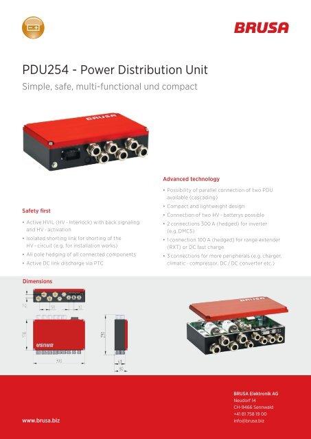 PDU254 - Power Distribution Unit - Brusa Elektronik AG