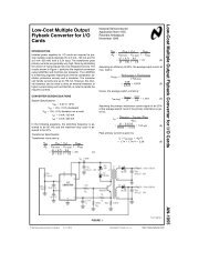AN-1055 Low-Cost Multiple Output Flyback Converter for ... - Bitsavers