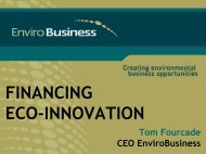 FINANCING ECO-INNOVATION