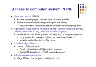 Access to computer system, NTNU - itslearning