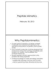Peptide Mimetics Why Peptidomimetics