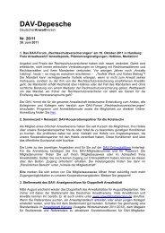 Dav-Depesche - Deutscher Anwaltverein
