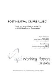 Post-Neutral or Pre-Allied: Finnish and Swedish Policies on the EU ...