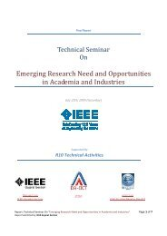 Emerging Research Need and Opportunities in Academia and ...