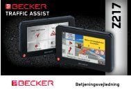 Betjeningsvejledning - Becker - Harman/Becker Automotive Systems ...