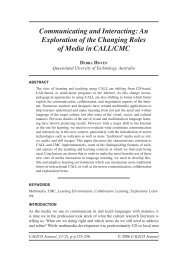 Communicating and Interacting: An Exploration of the ... - Calico