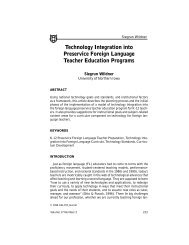 Technology Integration into Preservice Foreign Language - Software ...
