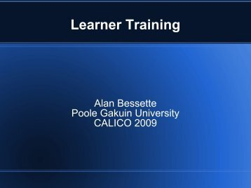 Learner Training