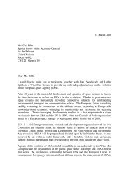 Antonio Rodotà's letter to Mr. Carl Bildt (31 March) - Esa