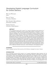 Developing English Language Curriculum for Online Delivery