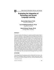 Evaluating the Integration of Technology and Second Language ...