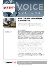 Just-Eat (Danish, PDF, 502 KB) - TomTom Business Solutions