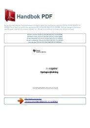 Bruker manual TEXAS INSTRUMENTS TI-NSPIRE - HANDBOK PDF