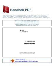 Bruker manual TEXAS INSTRUMENTS TI-NSPIRE ... - HANDBOK PDF