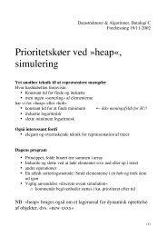 Prioritetskøer ved »heap«, simulering - akira.ruc.dk