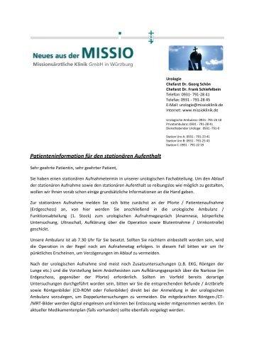 Patienten-Info - Missio