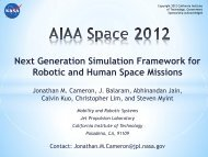 AIAA Space 2012 - BEACON eSpace at Jet Propulsion Laboratory ...