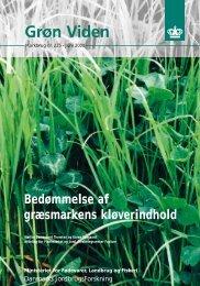 Bedømmelse af græsmarkens kløverindhold Bedømmelse ... - PURE