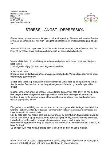 stress angst symptomer