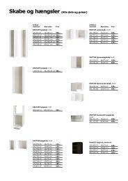 Skabe og hængsler (Alle dele og priser) - Ikea