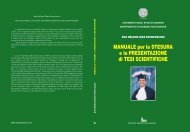 Manuale per la stesura e la presentazione di tesi scientifiche