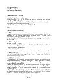 Règl cme cas catastrophes projet - Commune d'Anniviers