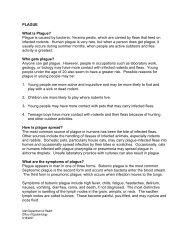 PLAGUE What is Plague? - Utah Department of Health