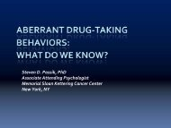 Aberrant Drug Taking Behaviors - Utah Department of Health