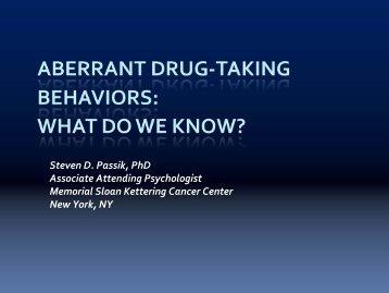 Aberrant Drug Taking Behaviors - Utah Department of Health
