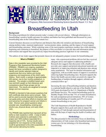 Breastfeeding In Utah - Utah Department of Health - Utah.gov