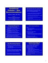 Gestational Diabetes – New Recommendations - Utah Department of Health