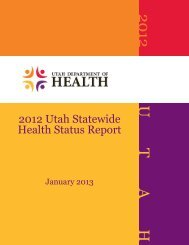 Statewide Health Status Report - Utah Department of Health - Utah ...